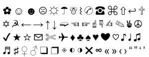 simbolos pc campos